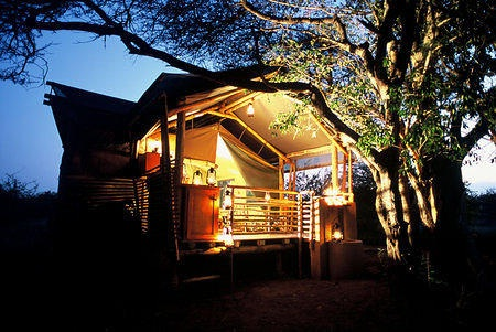 Safari Tent at Dusk