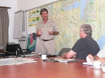 OVERBERG REGION (27) - PARK HEAD ADDRESSING MEETING, HR WILLIAM ELIOT LISTENING