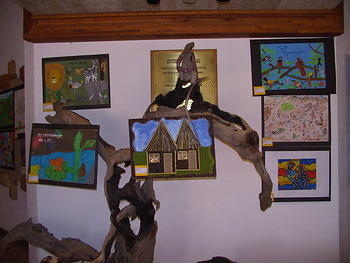 Some of the disabled children's winning art - Skukuza Disability festival - 3rd Dec 2003