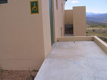 Namaqua has little infrastructure of any nature, but it does have an accessible toilet